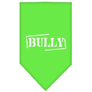 Bully Screen Print Bandana Lime Green Large