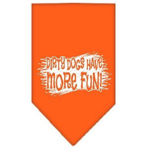 Dirty Dog Screen Print Bandana Orange Small
