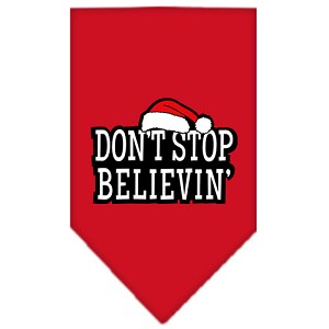Dont Stop Believin Screen Print Bandana Red Large