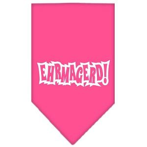 Ehrmagerd Screen Print Bandana Bright Pink Small