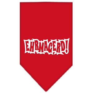 Ehrmagerd Screen Print Bandana Red Small
