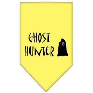 Ghost Hunter Screen Print Bandana Yellow Small