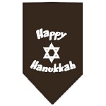 Happy Hanukkah Screen Print Bandana Cocoa Large