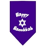Happy Hanukkah Screen Print Bandana Purple Small