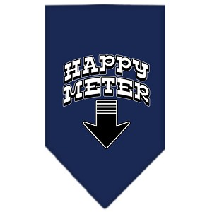 Happy Meter Screen Print Bandana Navy Blue large
