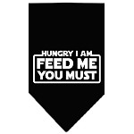 Hungry I Am Screen Print Bandana Black Small
