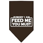 Hungry I Am Screen Print Bandana Cocoa Small