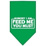 Hungry I Am Screen Print Bandana Emerald Green Small