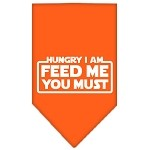 Hungry I Am Screen Print Bandana Orange Small