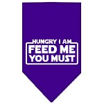 Hungry I Am Screen Print Bandana Purple Small