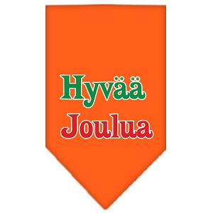Hyvaa Joulua Screen Print Bandana Orange Small