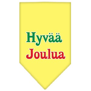 Hyvaa Joulua Screen Print Bandana Yellow Large