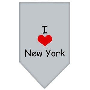 I Heart New York Screen Print Bandana Grey Large