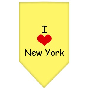I Heart New York Screen Print Bandana Yellow Large