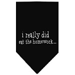 I really did eat the Homework Screen Print Bandana Black Small