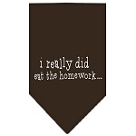I really did eat the Homework Screen Print Bandana Cocoa Large