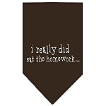 I really did eat the Homework Screen Print Bandana Cocoa Small