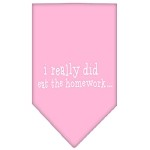 I really did eat the Homework Screen Print Bandana Light Pink Small