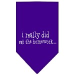 I really did eat the Homework Screen Print Bandana Purple Small