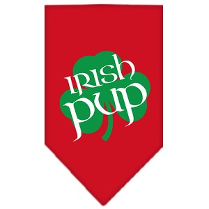 Irish Pup Screen Print Bandana Red Small