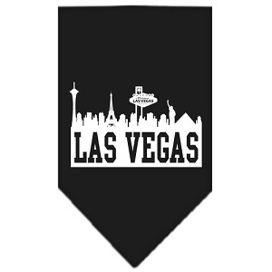 Las Vegas Skyline Screen Print Bandana Black Large
