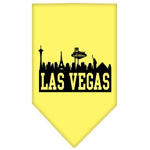 Las Vegas Skyline Screen Print Bandana Yellow Small