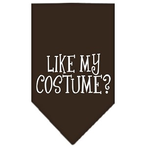 Like my costume? Screen Print Bandana Cocoa Large