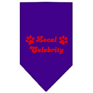 Local Celebrity Screen Print Bandana Purple Small