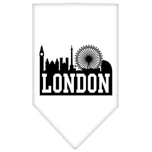 London Skyline Screen Print Bandana White Small