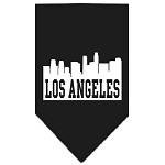 Los Angeles Skyline Screen Print Bandana Black Large