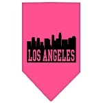 Los Angeles Skyline Screen Print Bandana Bright Pink Large