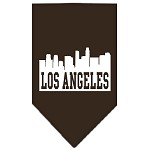 Los Angeles Skyline Screen Print Bandana Cocoa Large