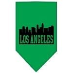 Los Angeles Skyline Screen Print Bandana Emerald Green Small
