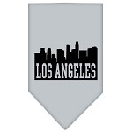 Los Angeles Skyline Screen Print Bandana Grey Large