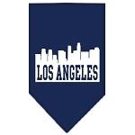 Los Angeles Skyline Screen Print Bandana Navy Blue Small