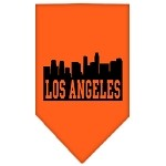 Los Angeles Skyline Screen Print Bandana Orange Large