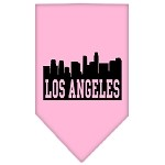 Los Angeles Skyline Screen Print Bandana Light Pink Small
