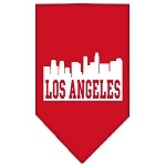 Los Angeles Skyline Screen Print Bandana Red Small