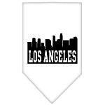 Los Angeles Skyline Screen Print Bandana White Large
