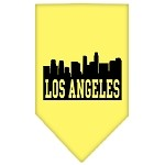 Los Angeles Skyline Screen Print Bandana Yellow Small