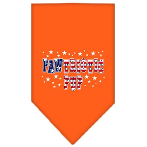 Pawtriotic Pup Screen Print Bandana Orange Large