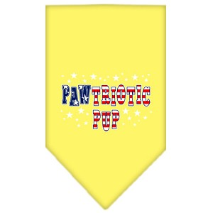 Pawtriotic Pup Screen Print Bandana Yellow Large