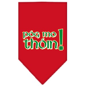 Pog Mo Thoin Screen Print Bandana Red Small