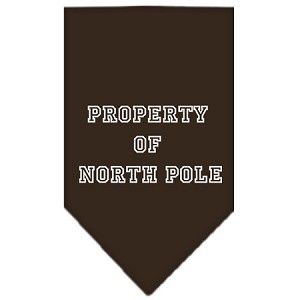 Property of North Pole Screen Print Bandana Cocoa Large