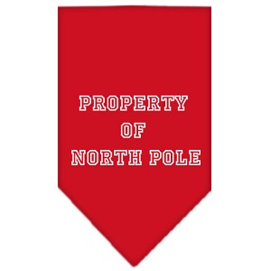 Property of North Pole Screen Print Bandana Red Large