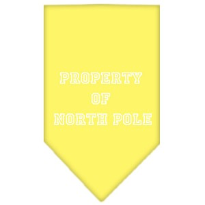 Property of North Pole Screen Print Bandana Yellow Small
