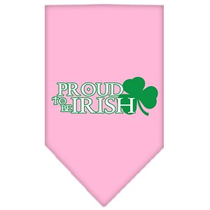 Proud to be Irish Screen Print Bandana Light Pink Small