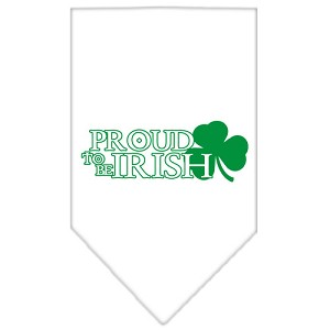 Proud to be Irish Screen Print Bandana White Large