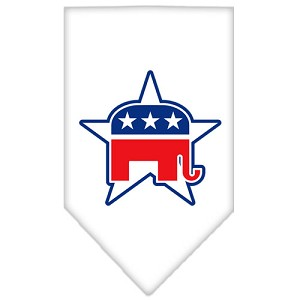 Republican Screen Print Bandana White Small