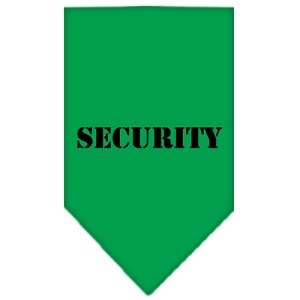 Security Screen Print Bandana Emerald Green Large